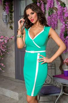 Платье бирюзового цвета Angela Ricci со скидкой