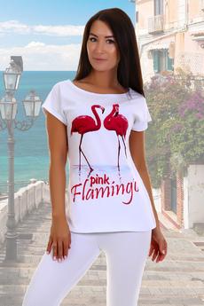 Футболка с фламинго Натали