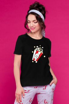 Черная футболка Pop-corn Шарлиз
