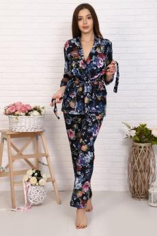 Комплект домашний: брюки, топ и жакет Натали